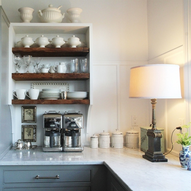 Lamps on Kitchen Counters   The Inspired Room